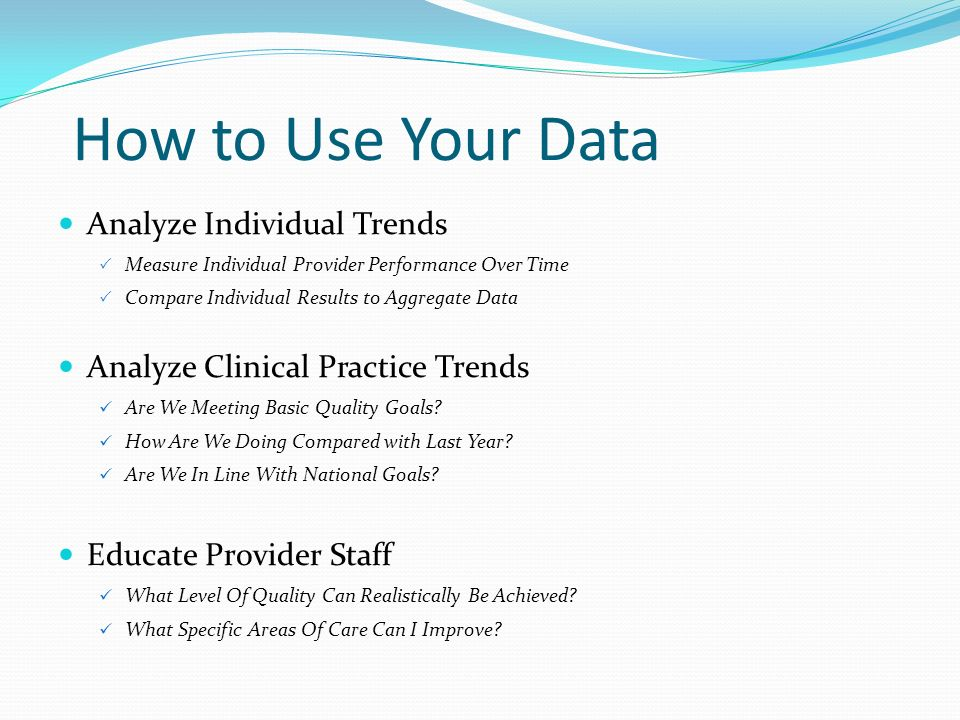 How to Use Your Data Analyze Individual Trends