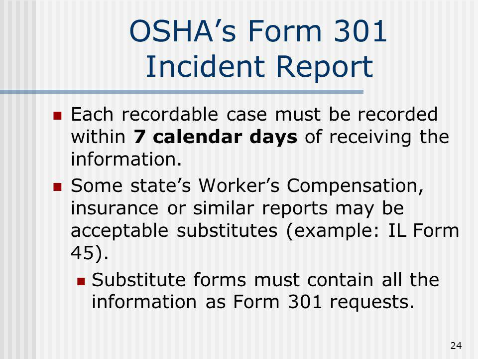 OSHA's Form 301 Incident Report
