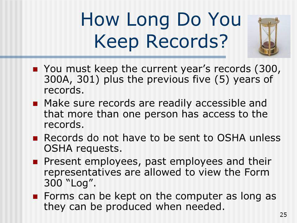 How Long Do You Keep Records