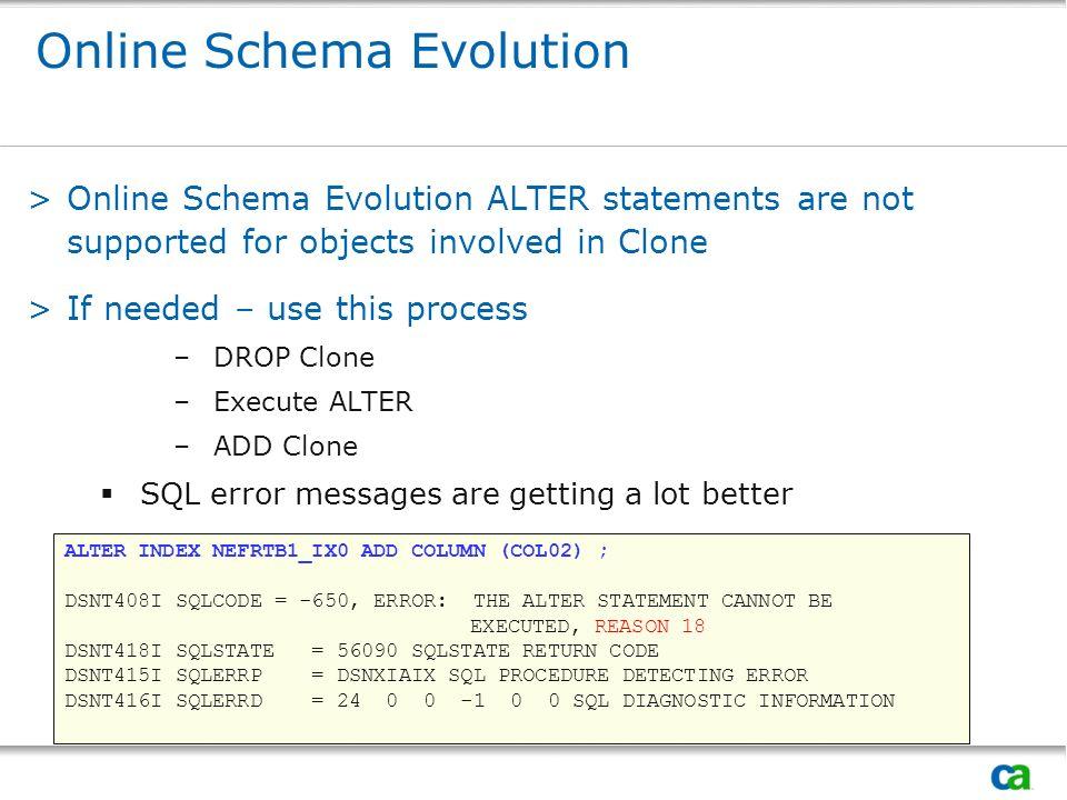 Online Schema Evolution