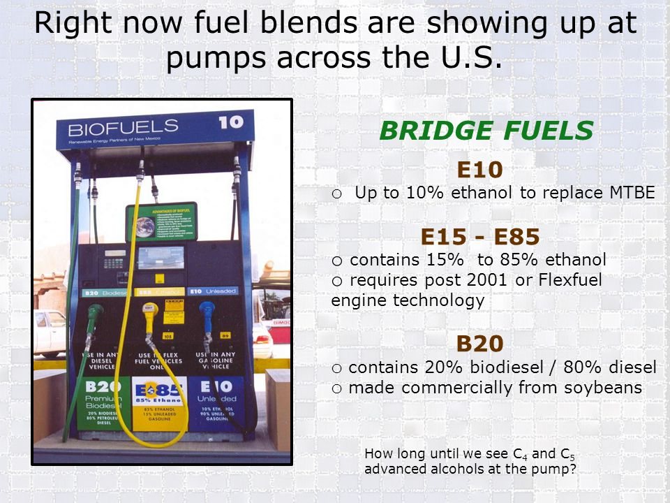 Right now fuel blends are showing up at pumps across the U.S.