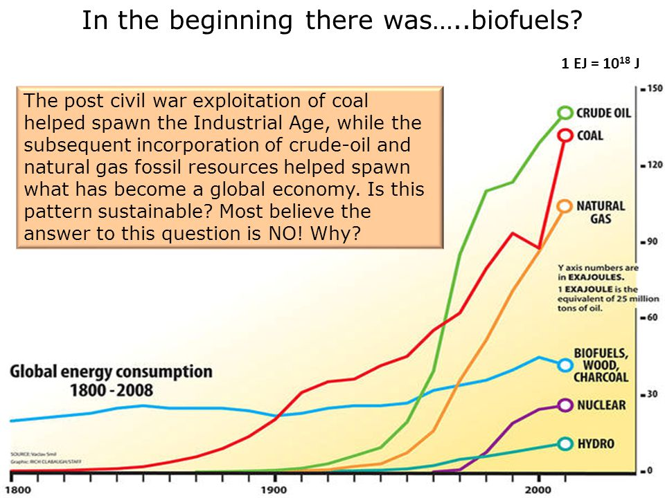In the beginning there was…..biofuels