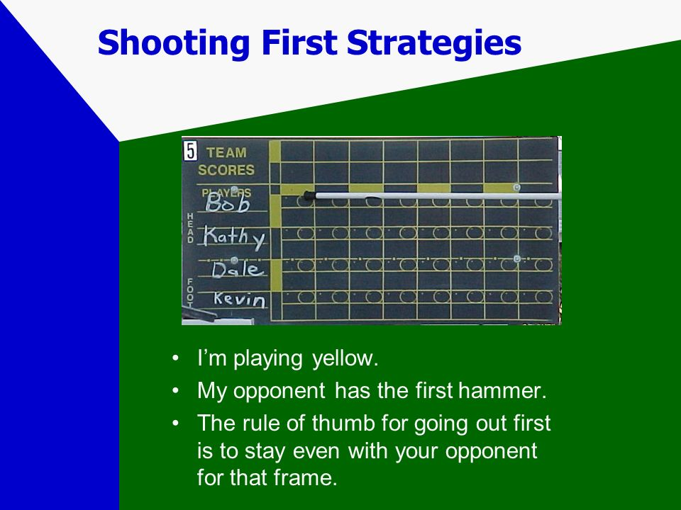 Shooting First Strategies