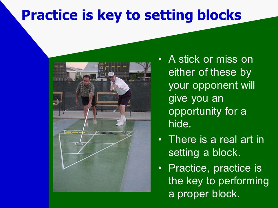 Practice is key to setting blocks