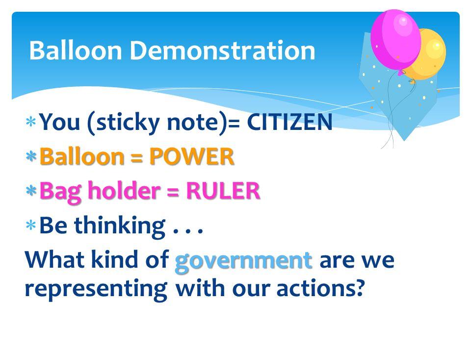 Balloon Demonstration