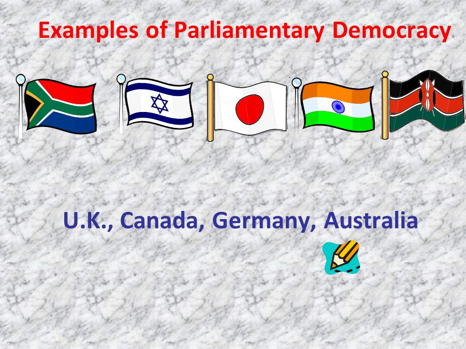 Examples of Parliamentary Democracy