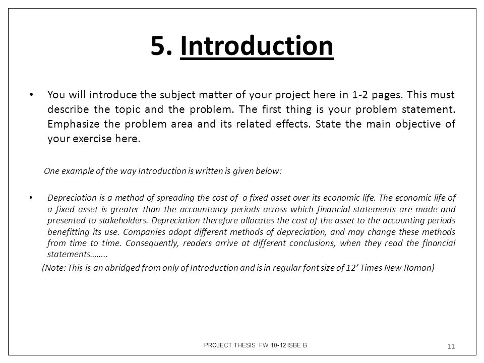 5. Introduction