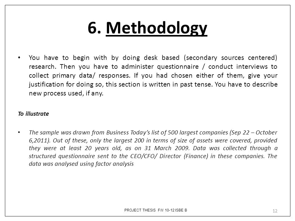 thesis methodology example
