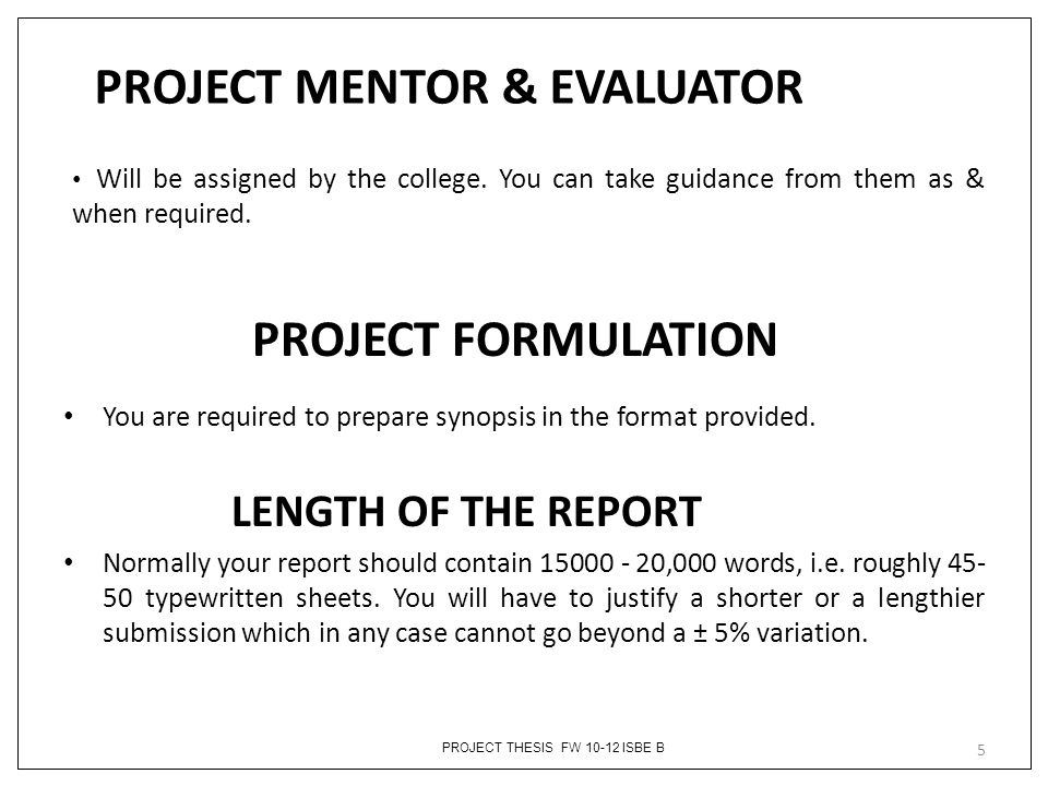 PROJECT MENTOR & EVALUATOR