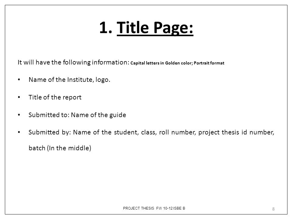 title page term paper