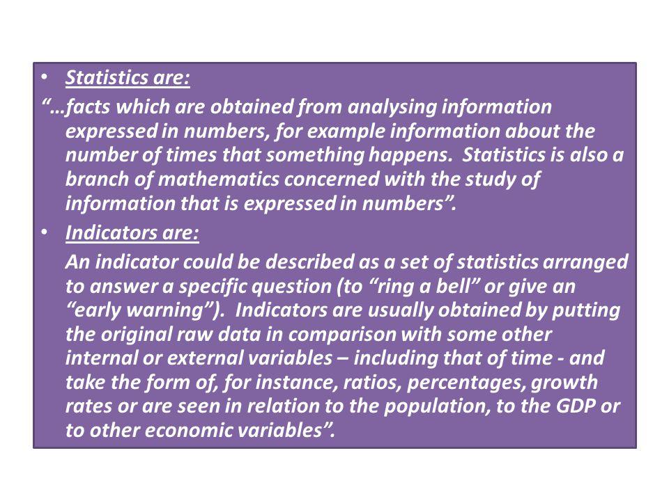 Statistics are:
