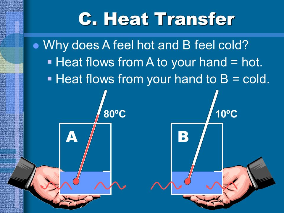 C. Heat Transfer A B Why does A feel hot and B feel cold