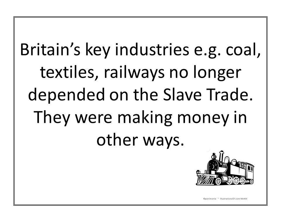 Britain's key industries e. g