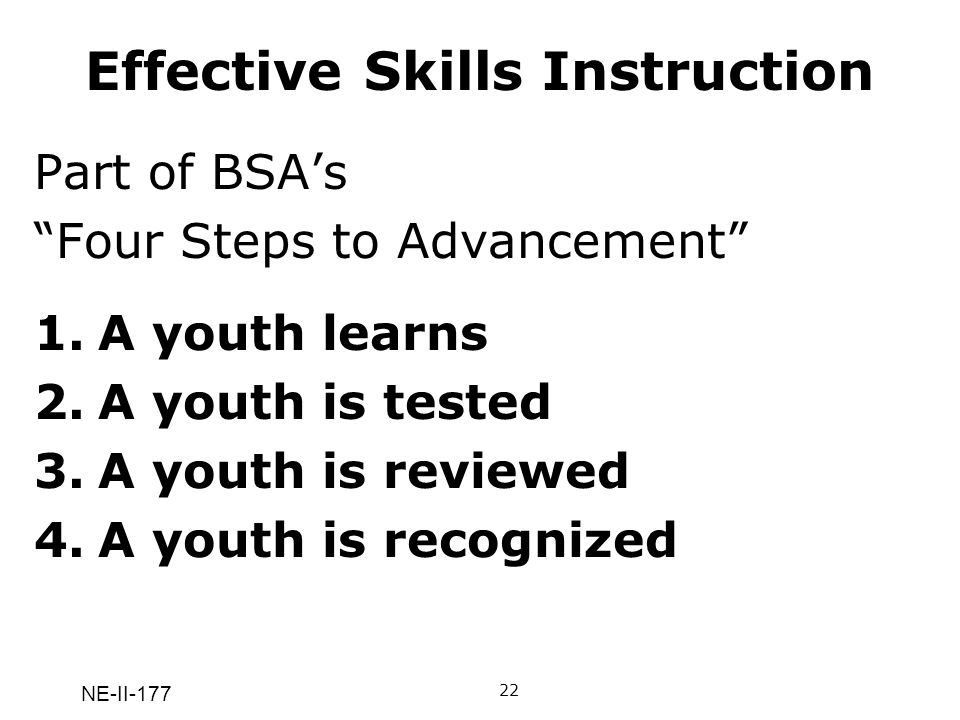 Effective Skills Instruction