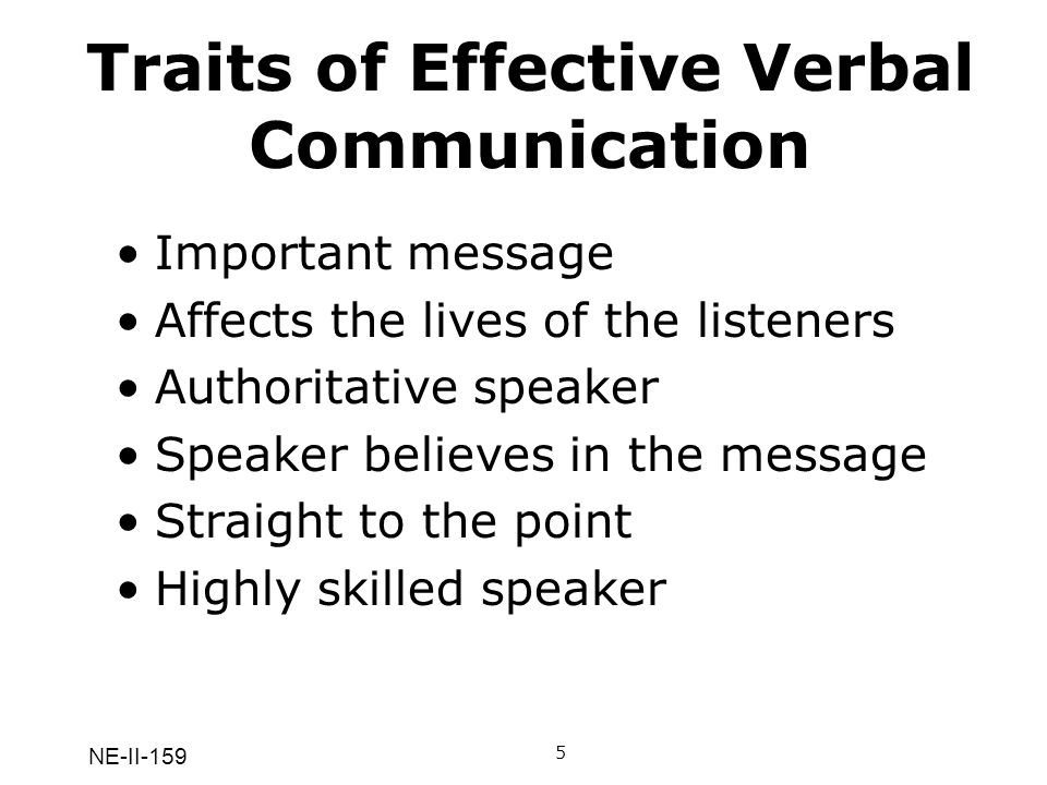 Traits of Effective Verbal Communication