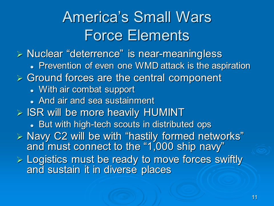 America's Small Wars Force Elements