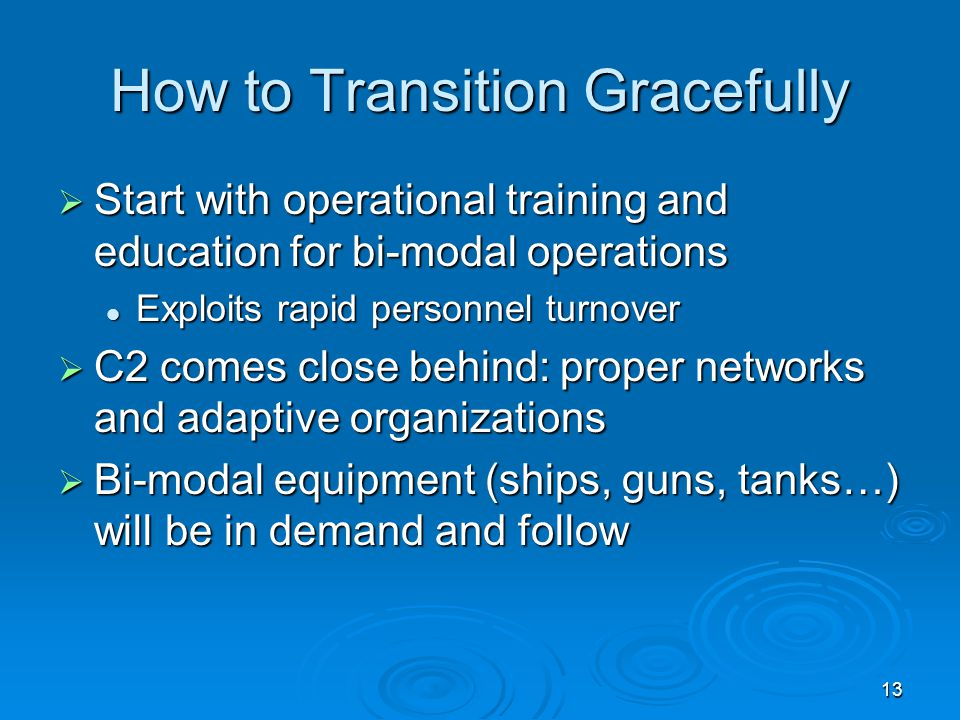 How to Transition Gracefully