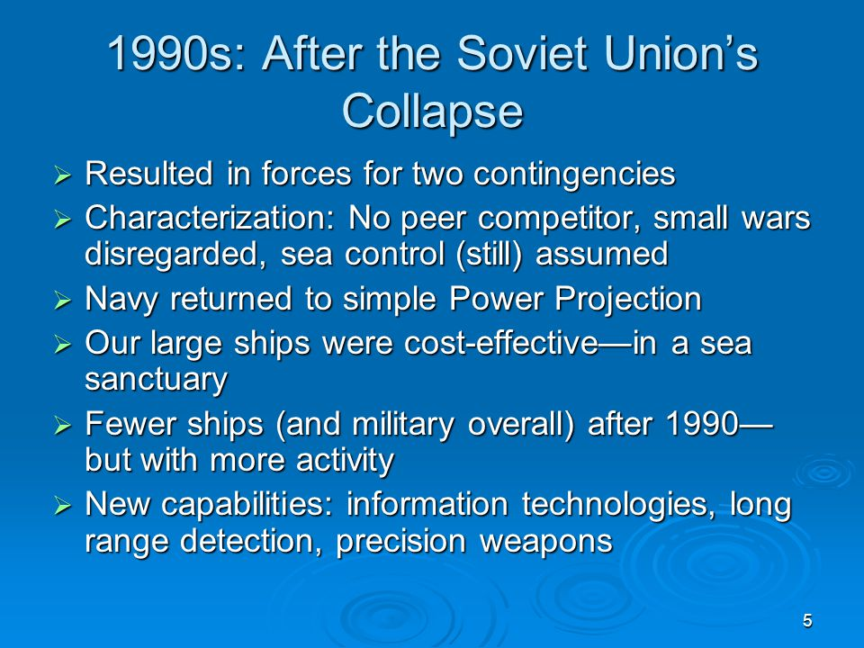 1990s: After the Soviet Union's Collapse