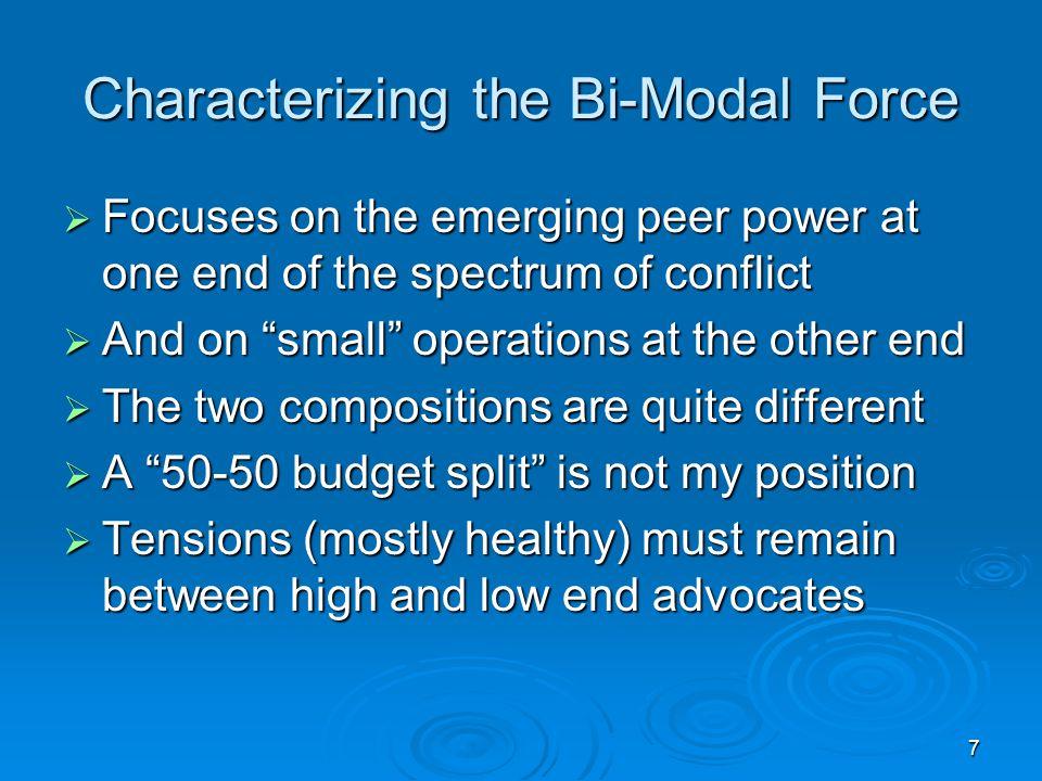 Characterizing the Bi-Modal Force