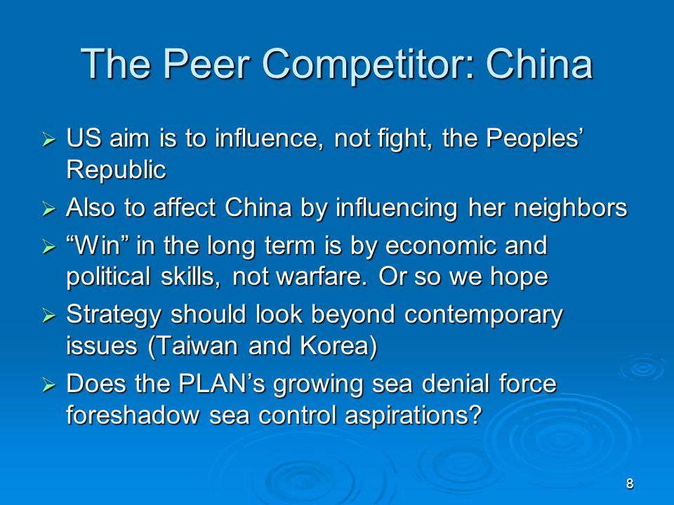 The Peer Competitor: China