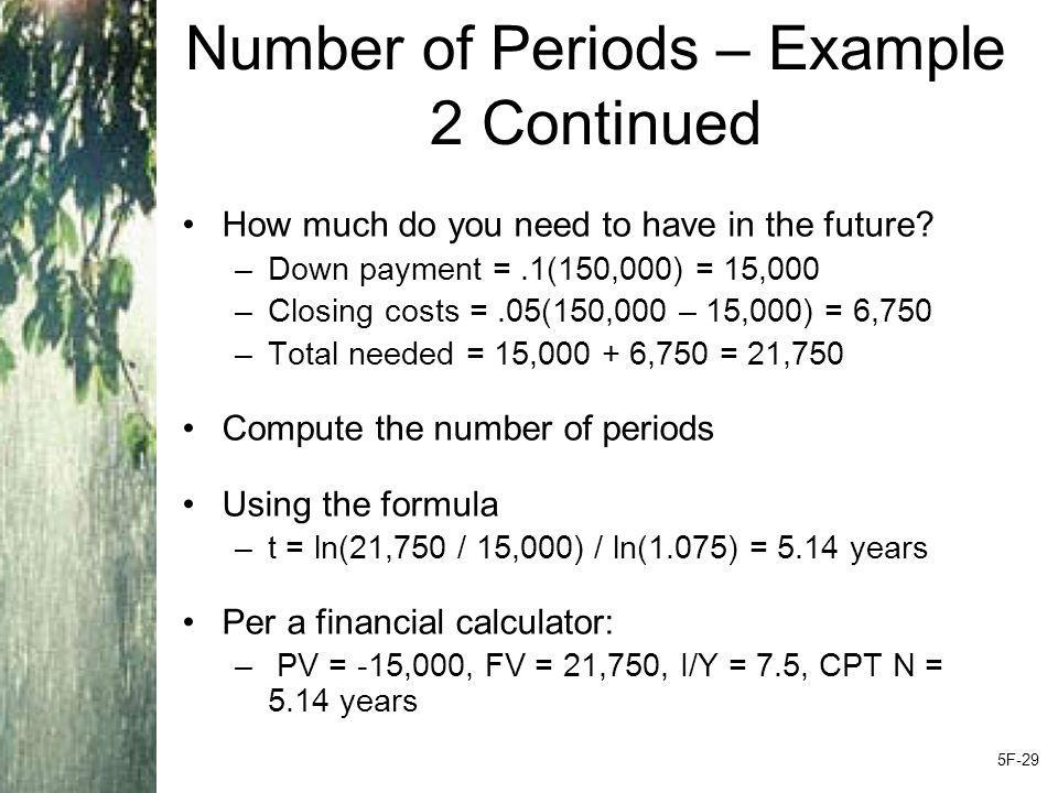 Number of Periods – Example 2 Continued