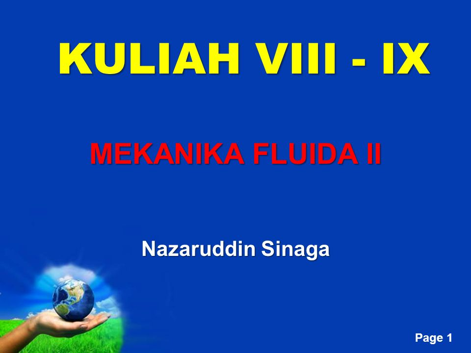 MEKANIKA FLUIDA II Nazaruddin Sinaga