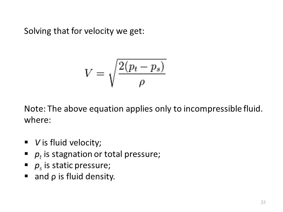 Solving that for velocity we get: