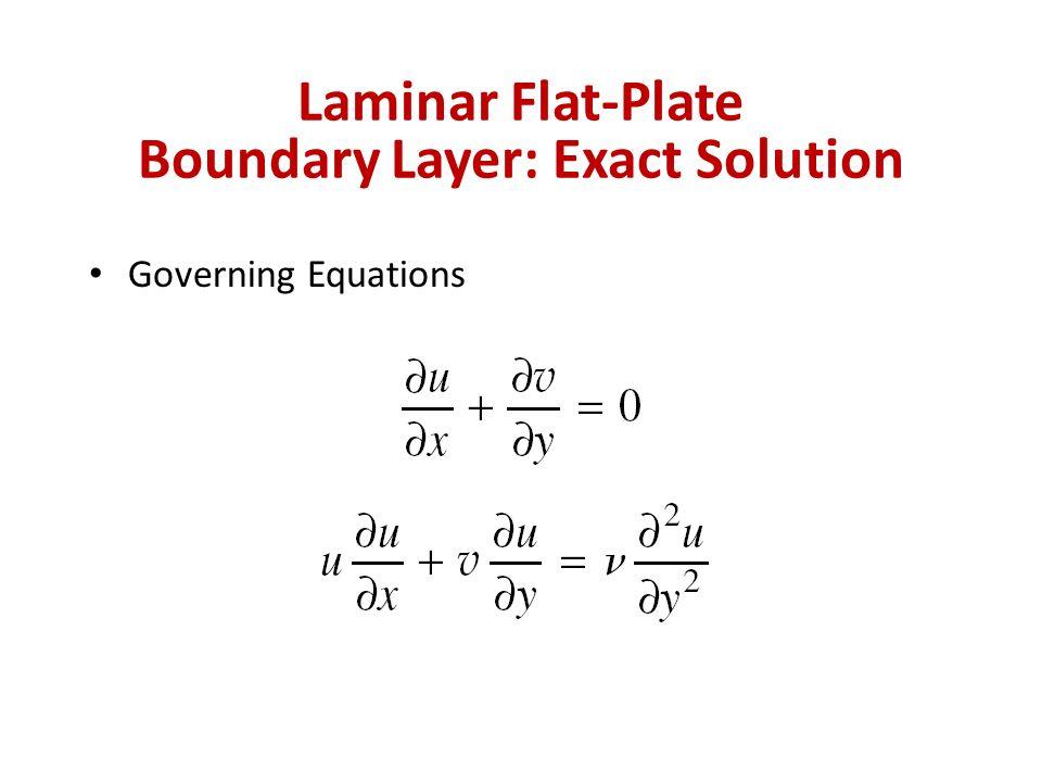 Laminar Flat-Plate Boundary Layer: Exact Solution