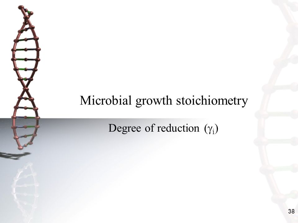 Microbial growth stoichiometry