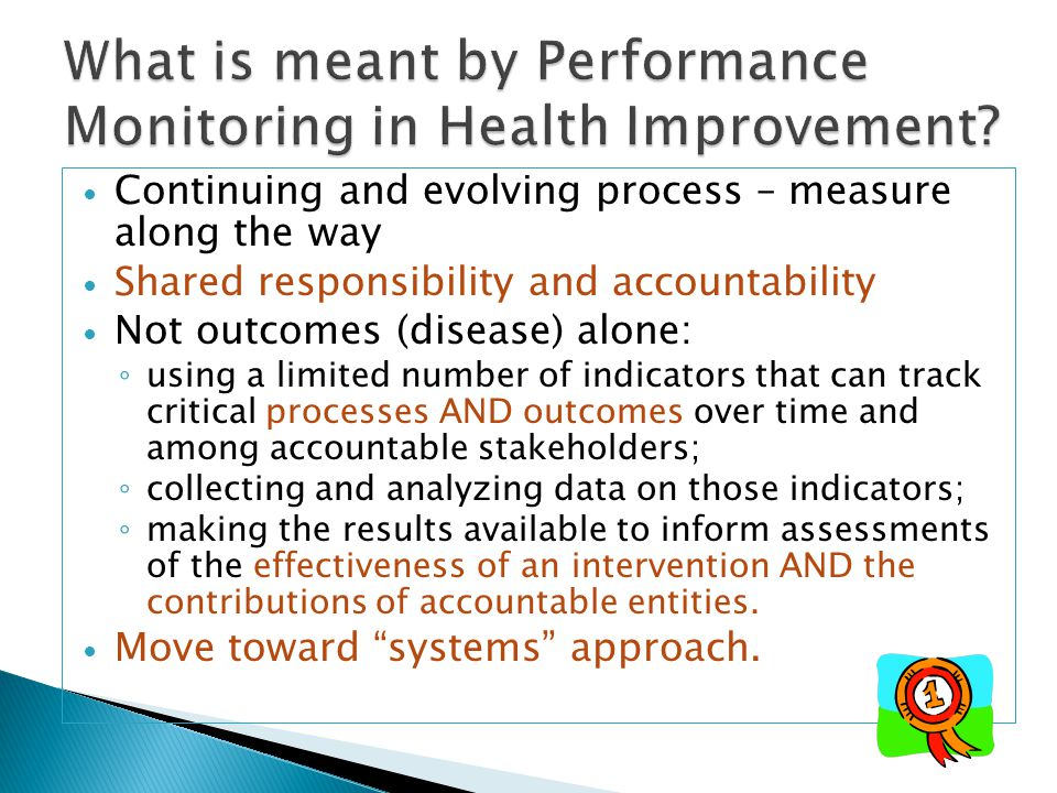 What is meant by Performance Monitoring in Health Improvement