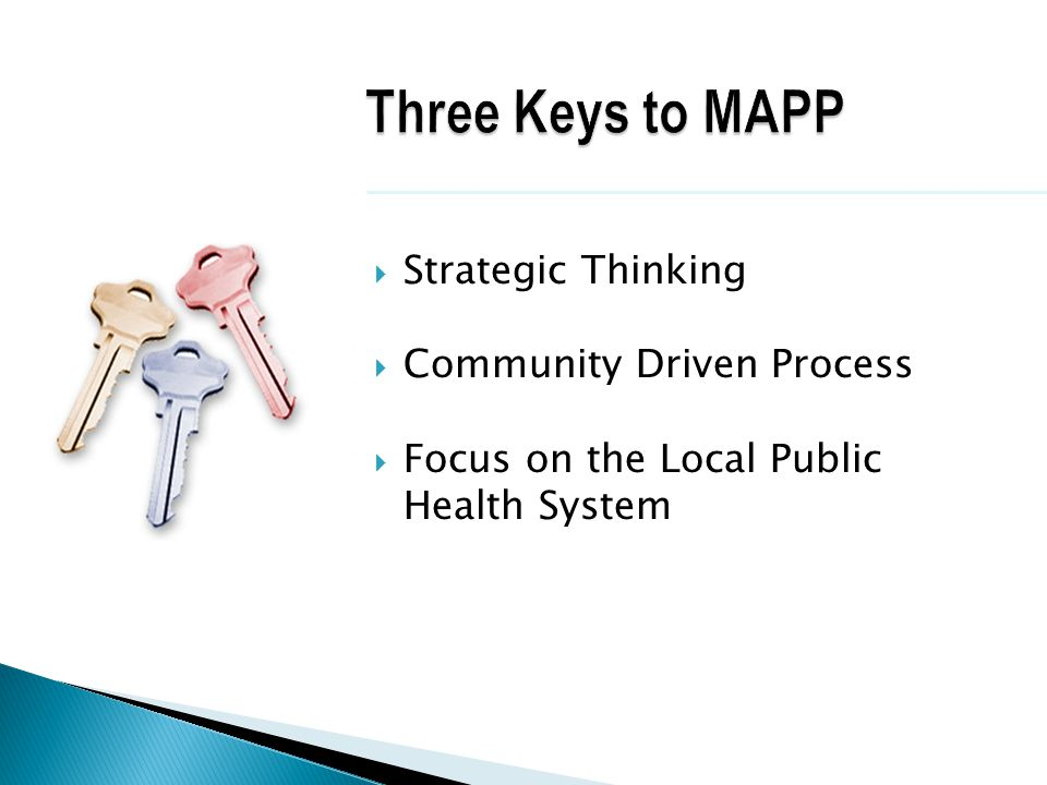 Three Keys to MAPP Strategic Thinking Community Driven Process