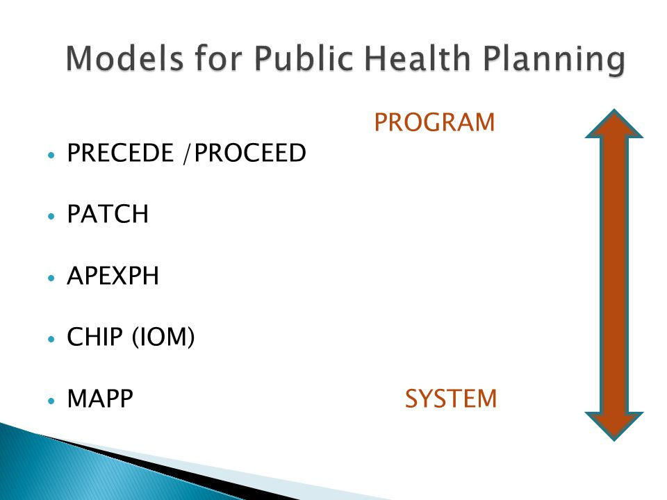 Models for Public Health Planning