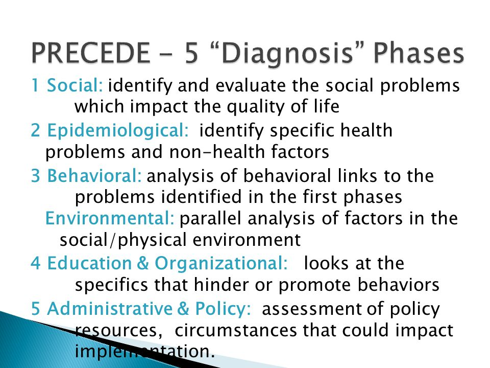 PRECEDE - 5 Diagnosis Phases