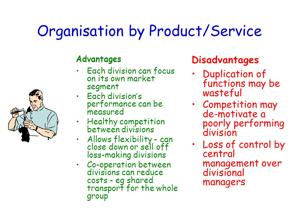Organisation by Product/Service