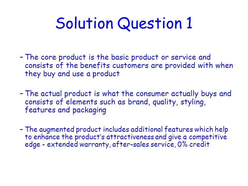 Solution Question 1