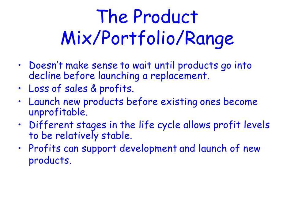 The Product Mix/Portfolio/Range