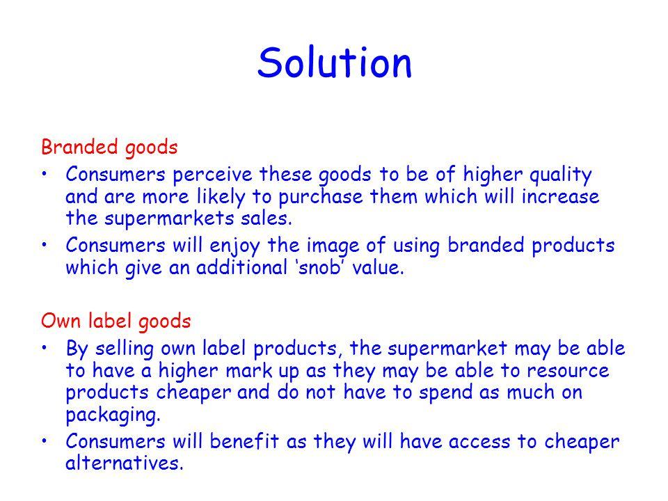 Solution Branded goods
