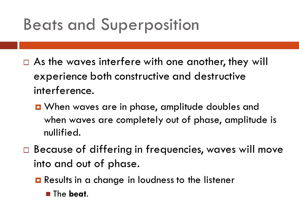Beats and Superposition