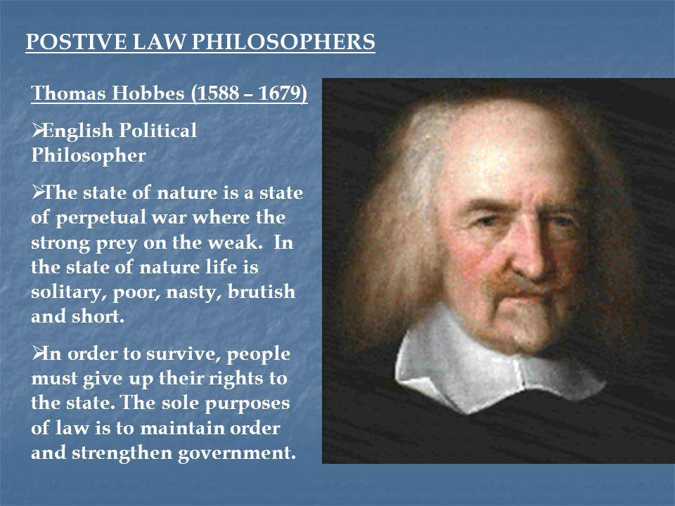 POSTIVE LAW PHILOSOPHERS
