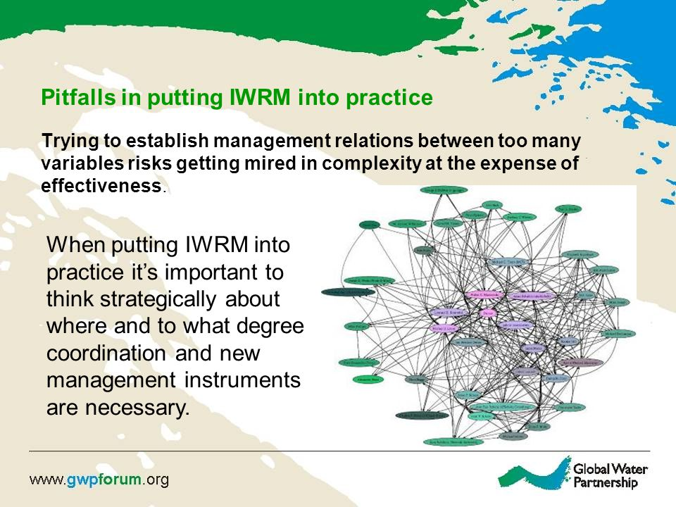 Pitfalls in putting IWRM into practice