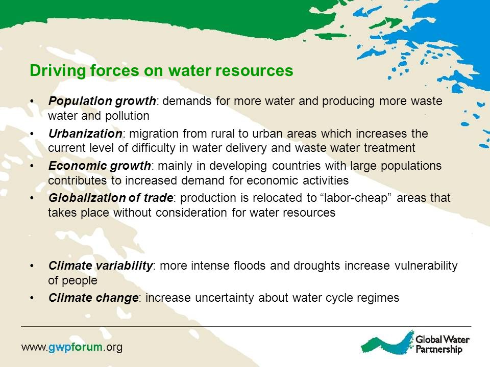 Driving forces on water resources
