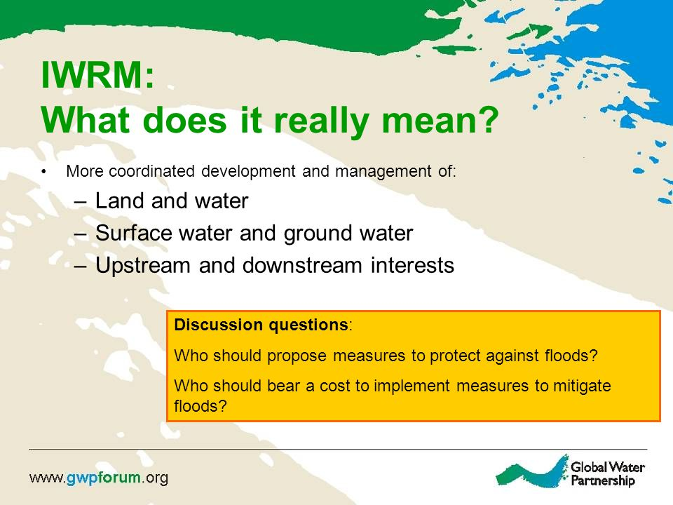 IWRM: What does it really mean