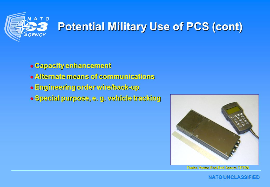 Potential Military Use of PCS (cont)