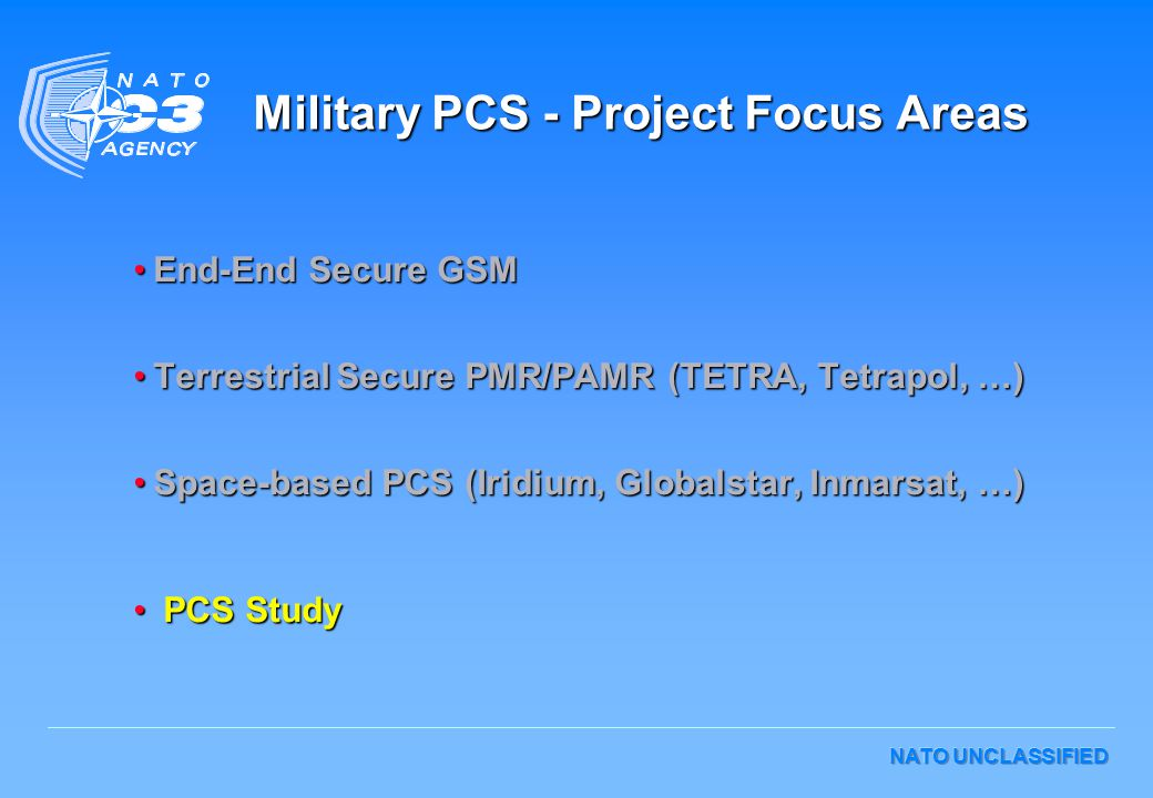 Military PCS - Project Focus Areas
