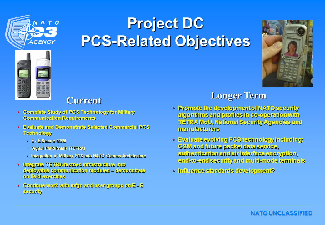 Project DC PCS-Related Objectives