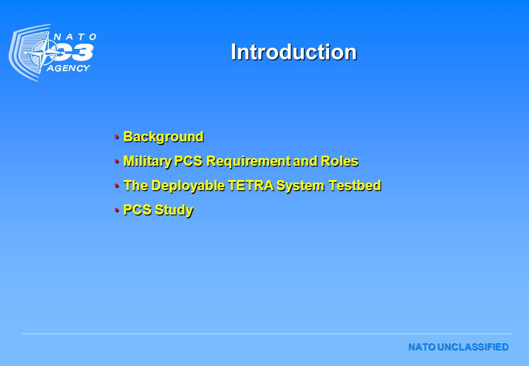 Introduction Background Military PCS Requirement and Roles