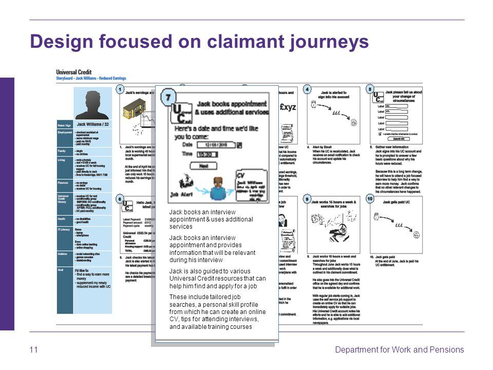 Design focused on claimant journeys