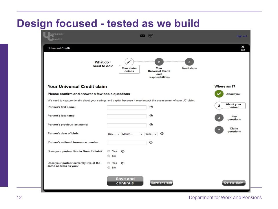 Design focused - tested as we build
