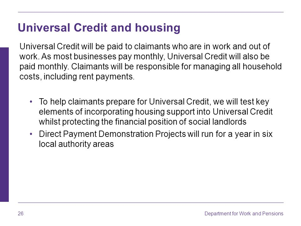 Universal Credit and housing