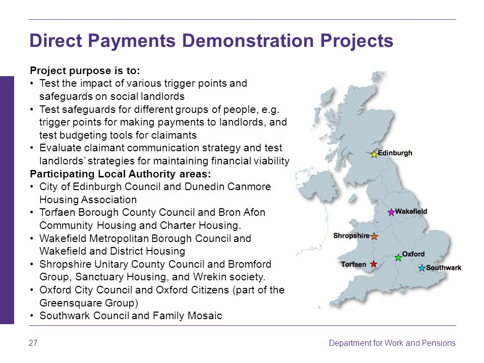 Direct Payments Demonstration Projects